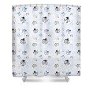 Seashell Pattern Shower Curtain