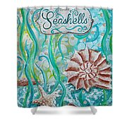 Seashells II Shower Curtain