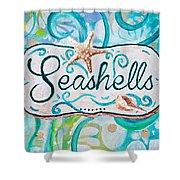 Seashells IIi Shower Curtain