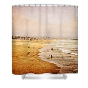 Seashore At Manhattan Beach Shower Curtain