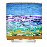 Seashore Blue Sky Shower Curtain