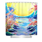 Seashore In The Moonlight Shower Curtain