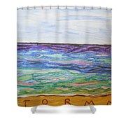 Sunny Seashore  Shower Curtain