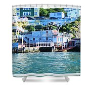 Seaside B And B Shower Curtain