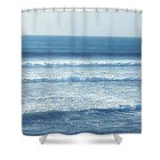 Seaside Blue Shower Curtain