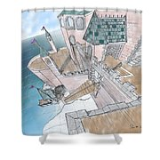 Seaside Castle Shower Curtain