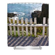 Seaside Fence Shower Curtain