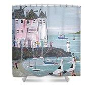Seaside Houses Shower Curtain
