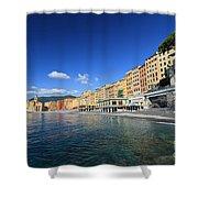 seaside in Camogli Shower Curtain