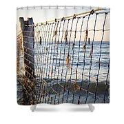 Seaside Nets Shower Curtain