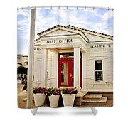 Seaside Post Office Shower Curtain