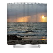 Seaside Rainstorm Shower Curtain