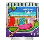Seaside Siesta Shower Curtain