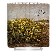 Seaside Sun Shower Curtain