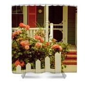 Seaside Victorian Cottage Shower Curtain