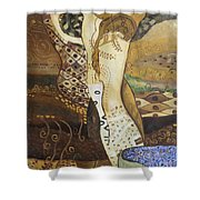 Seasnakes And Squiggles Shower Curtain