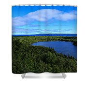 Season Of Blue And Green Shower Curtain
