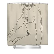 Seated Female Nude, 1918 Shower Curtain