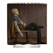 Seated Man Shower Curtain