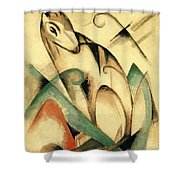 Seated Mythical Animal 1913 Shower Curtain