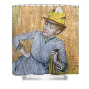 Seated Woman Shower Curtain