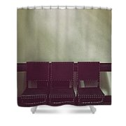 Seating For Three Shower Curtain by Margie Hurwich