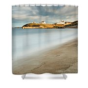Seaton Sluice In Smooth Water Shower Curtain