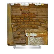 Seats For The Elders And Podium In Church Of Saint Nicholas In Myra-turkey Shower Curtain
