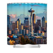 Seattle Afternoon Shower Curtain