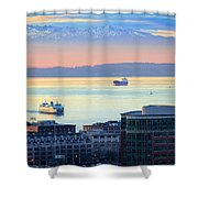 Seattle And Elliott Bay Shower Curtain