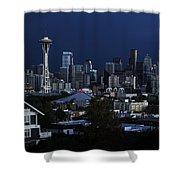 Seattle Blues Shower Curtain