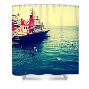 Seattle Boat Shower Curtain