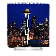 Seattle By Night Shower Curtain