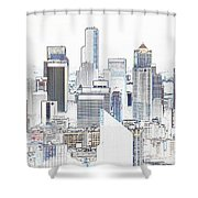 Seattle City Original Work Shower Curtain