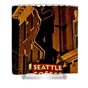 Seattle Coffee Works Shower Curtain