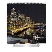 Seattle Downtown Skyline Waterfront Marina Shower Curtain