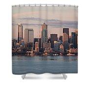 Seattle Dusk Skyline Shower Curtain
