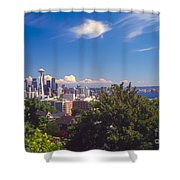 Seattle From Queen Anne Hill Shower Curtain
