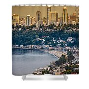 Seattle From The Air Shower Curtain
