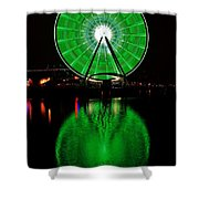 Seattle Great Wheel In Motion Shower Curtain