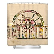 Seattle Mariners Poster Art Shower Curtain