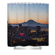 Seattle Morning Glow Shower Curtain