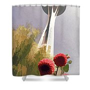 Seattle Needle One Shower Curtain