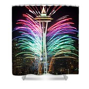 Seattle New Year Shower Curtain