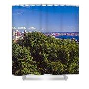 Seattle On Puget Sound Shower Curtain