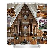 Seattle Organ  Shower Curtain
