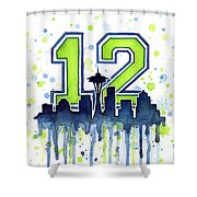 Seattle Seahawks 12th Man Art Shower Curtain