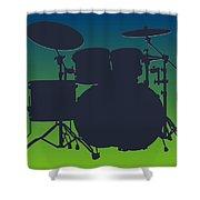 Seattle Seahawks Drum Set Shower Curtain