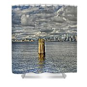 Seattle Skyline And Cityscape Shower Curtain