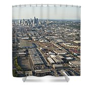 Seattle Skyline And South Industrial Area Shower Curtain